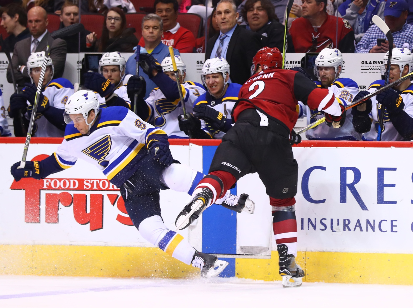 Scottie Upshall's unfortunate injury may end his time with the Blues