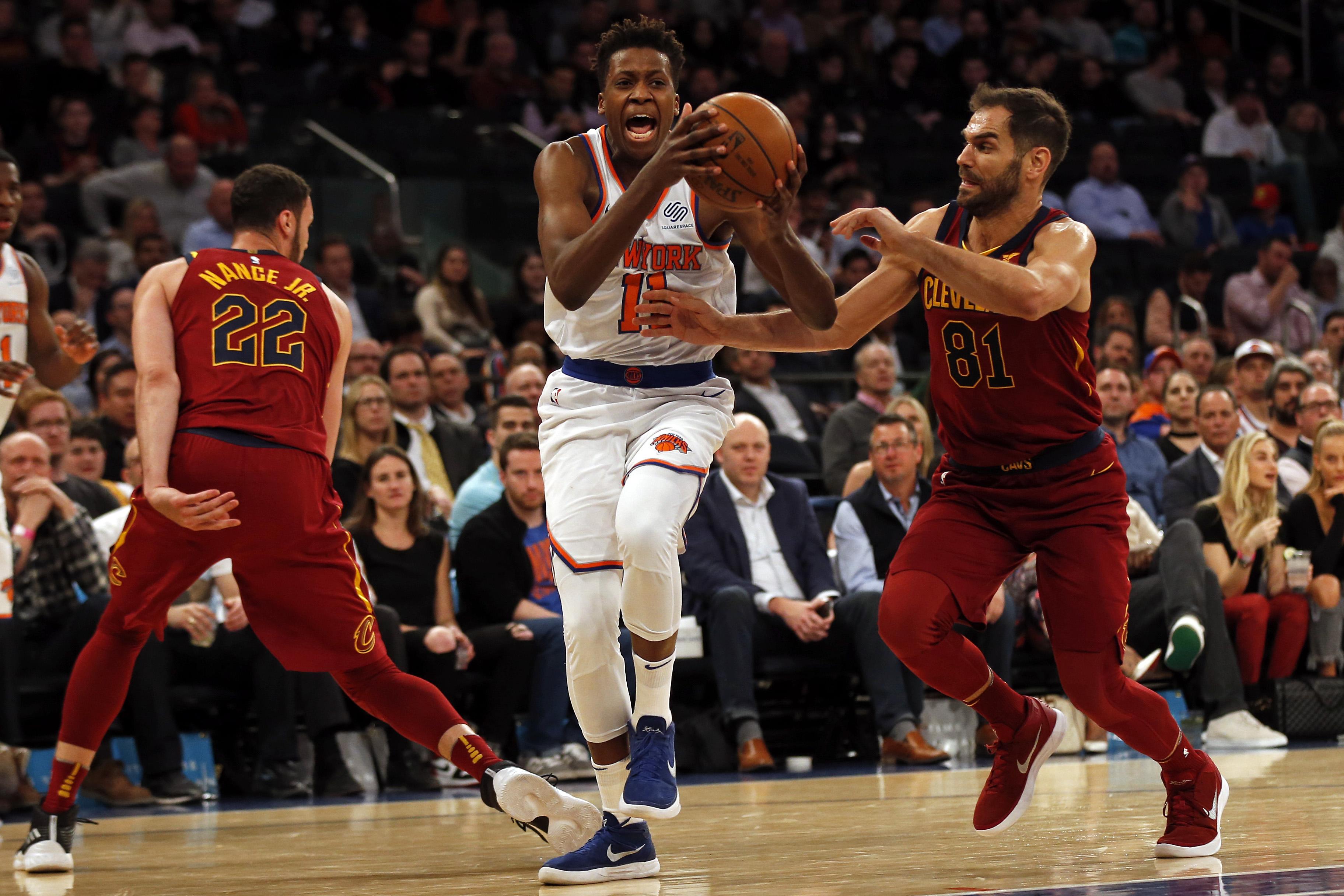 Frank Ntilikina scores career-high, impresses LeBron James in Knicks' loss
