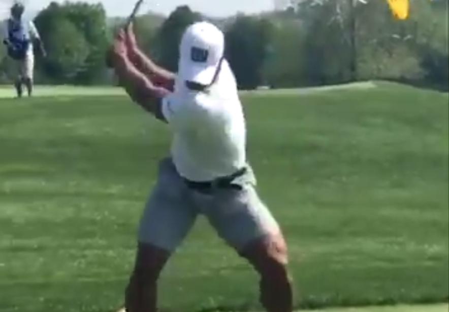 LOOK: Saquon Barkley's muscular legs on display in golf swing video