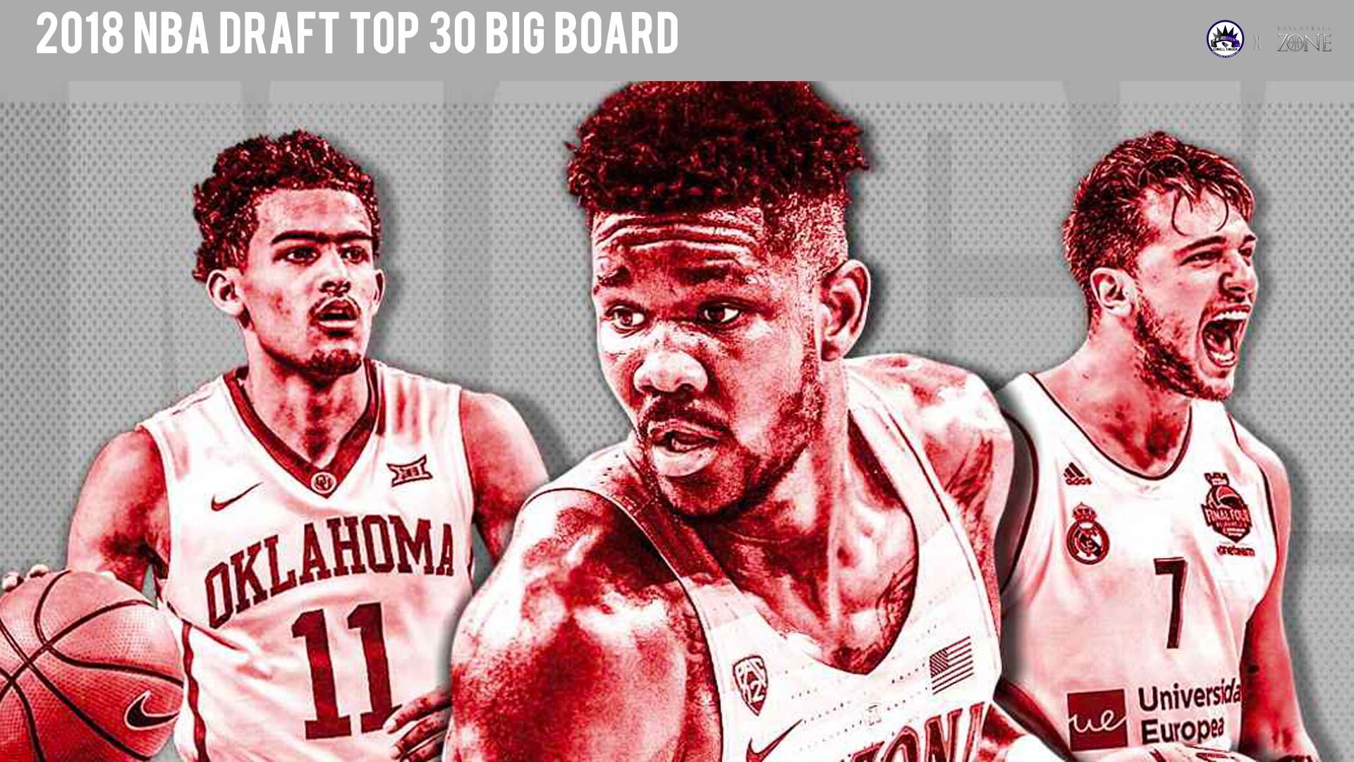 2018 NBA Draft Top 30 Big Board