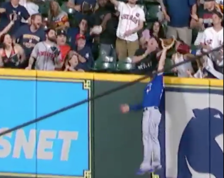 Randal Grichuk steals game-tying home run from George Springer
