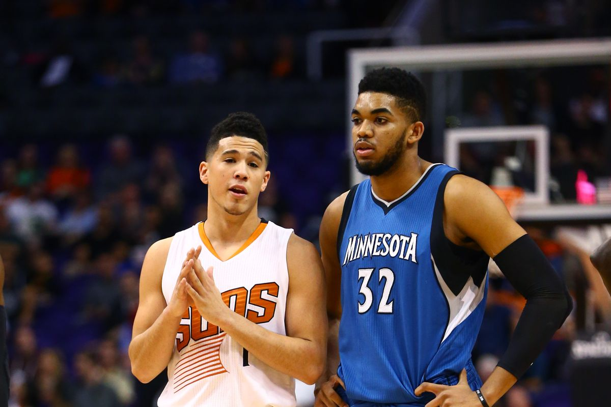 Karl-Anthony Towns and Devin Booker