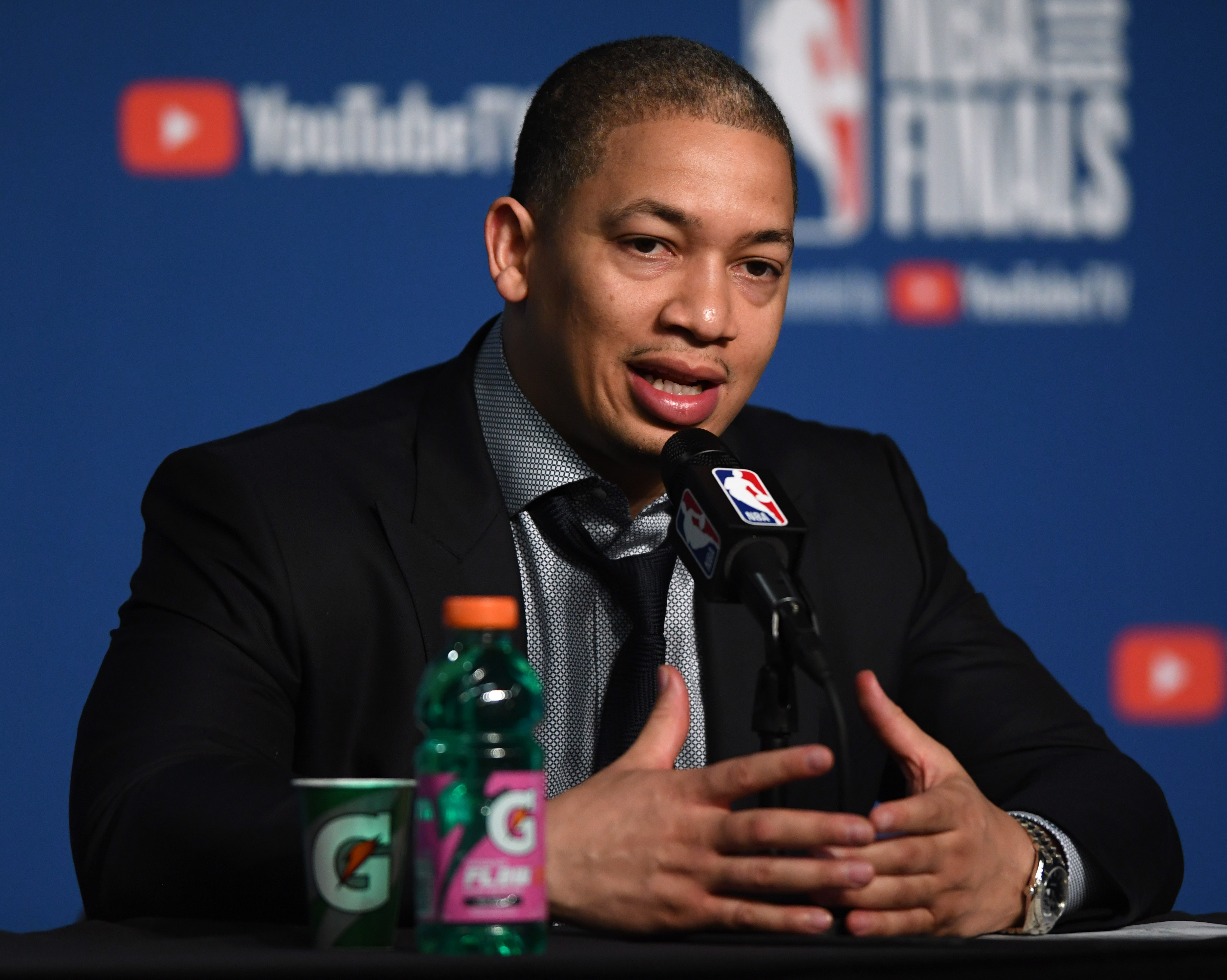 Tyronn Lue mum about possibility of LeBron James leaving Cavs in free agency