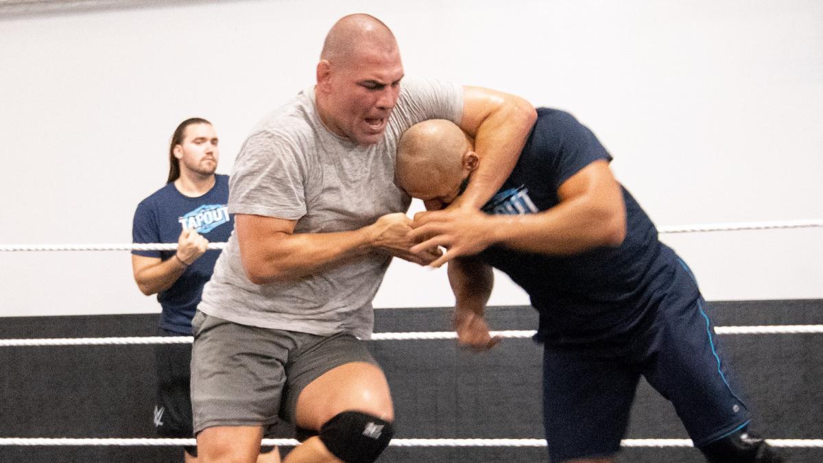 Former UFC Heavyweight Champion Cain Velasquez Trains At WWE Performance Center