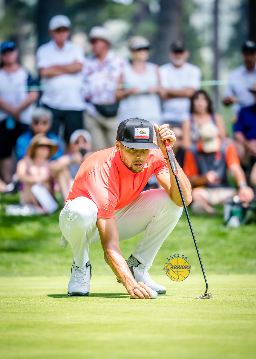 PHOTO GALLERY: Steph Curry golfing at American Century Championship in Tahoe (Saturday)