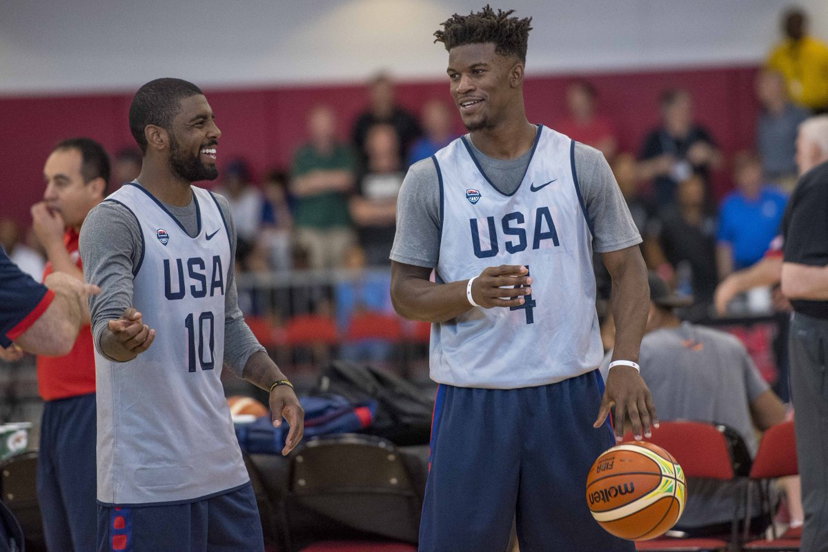 Jimmy Butler and Kyrie Irving