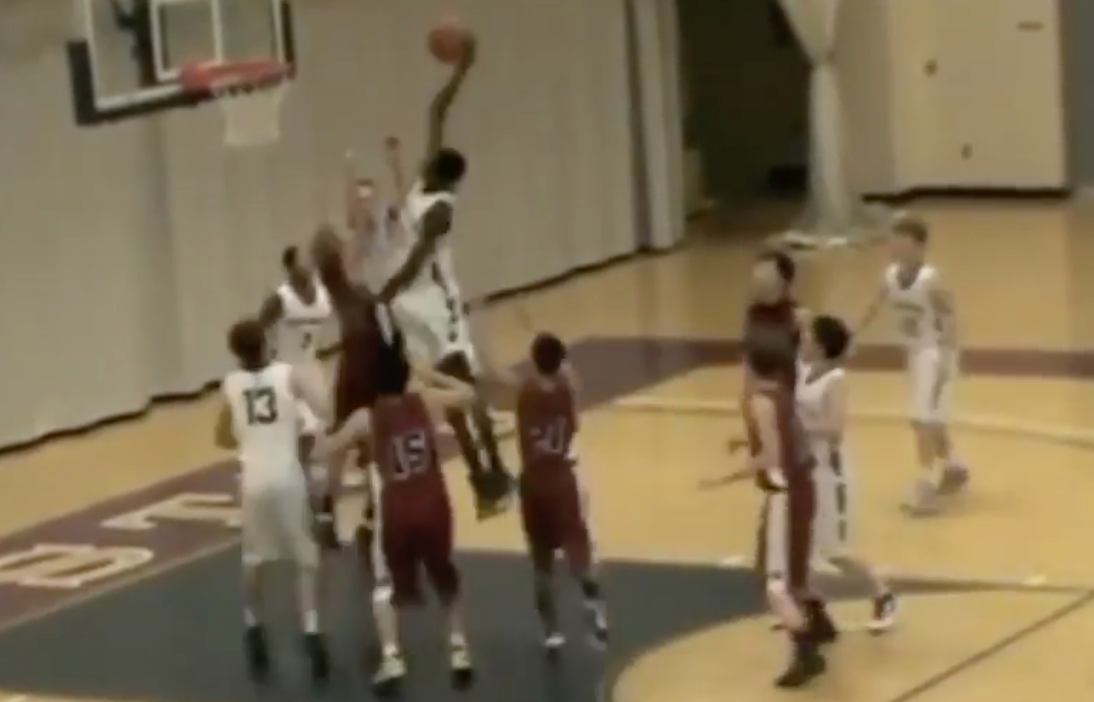 Video of young Mo Bamba posterizing middle-schooler goes viral