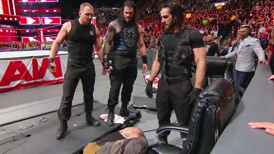 The Shield Reunites On WWE 'Monday Night Raw', Destroys Braun Strowman