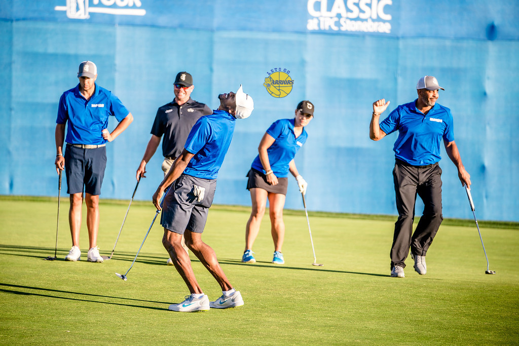 PHOTO GALLERY + VIDEO: Andre Iguodala plays golf at Ellie Mae Classic Celebrity Shootout