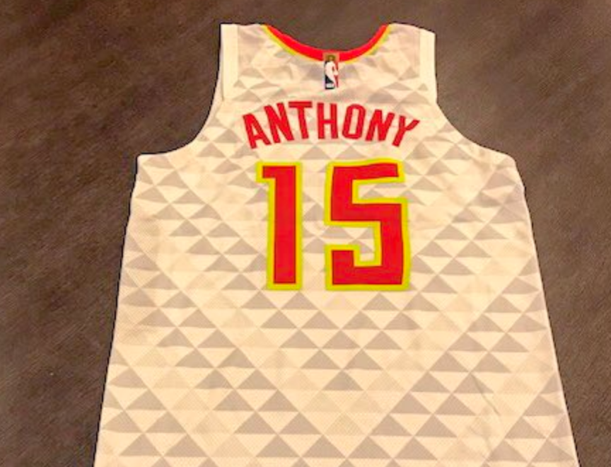 Hawks comically send Carmelo Anthony a jersey to commemorate his five days with team