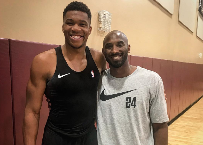 Look: Giannis Antetokounmpo finally gets his wish, works out with Kobe Bryant