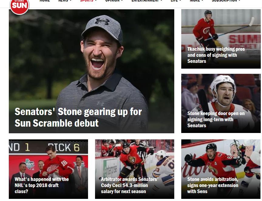 Ottawa Sun: Mark Stone incapable of closing his mouth