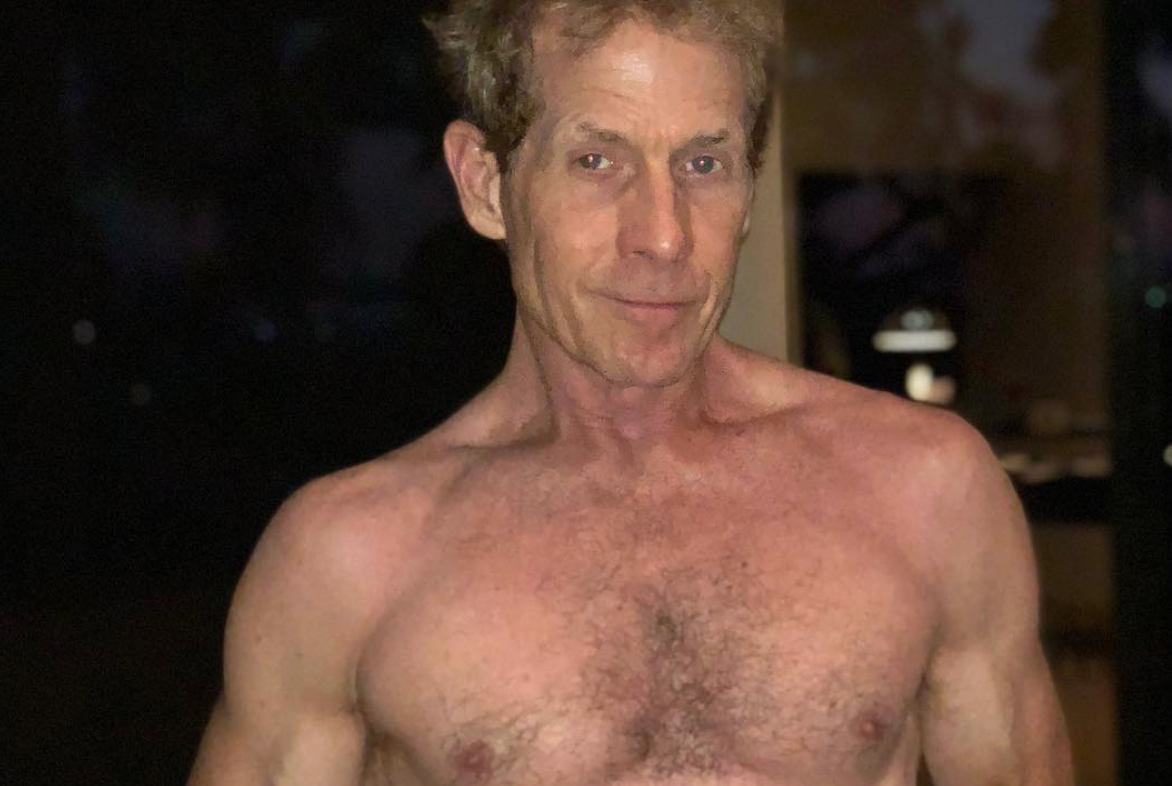 Look: Skip Bayless roasted for this shirtless selfie