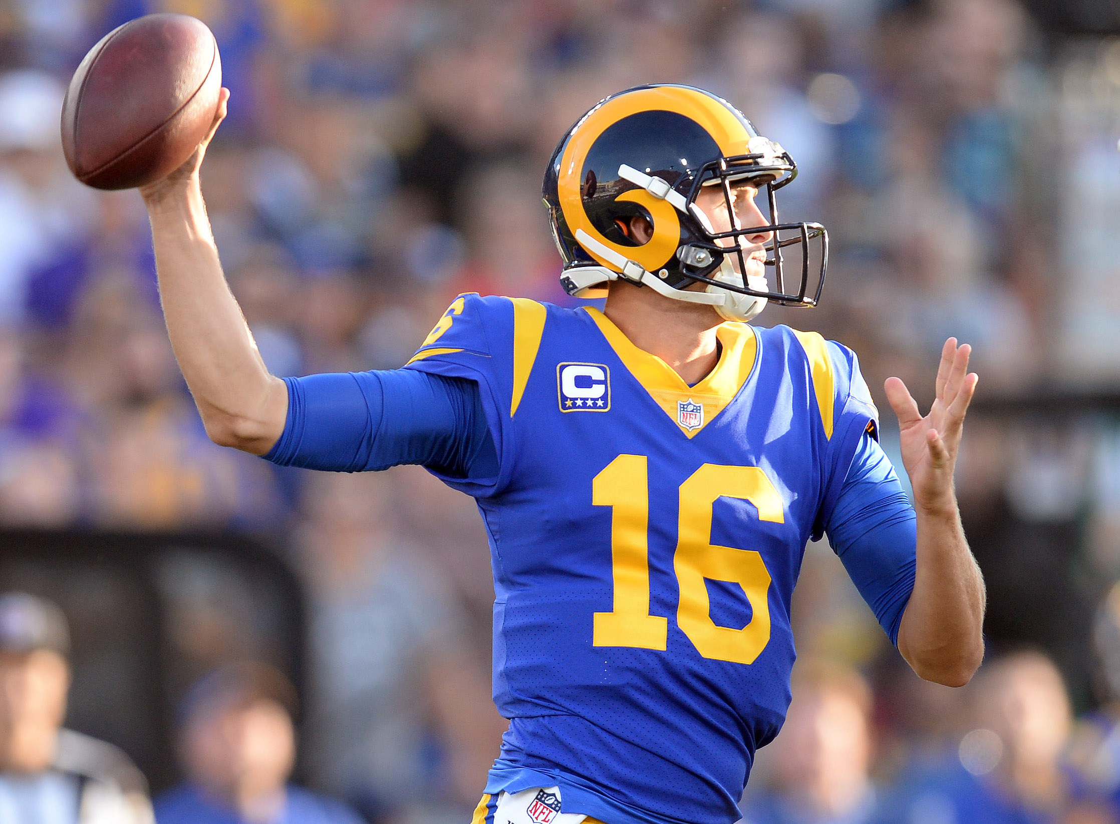 Look: Jared Goff's first-half passing chart is absolutely ridiculous