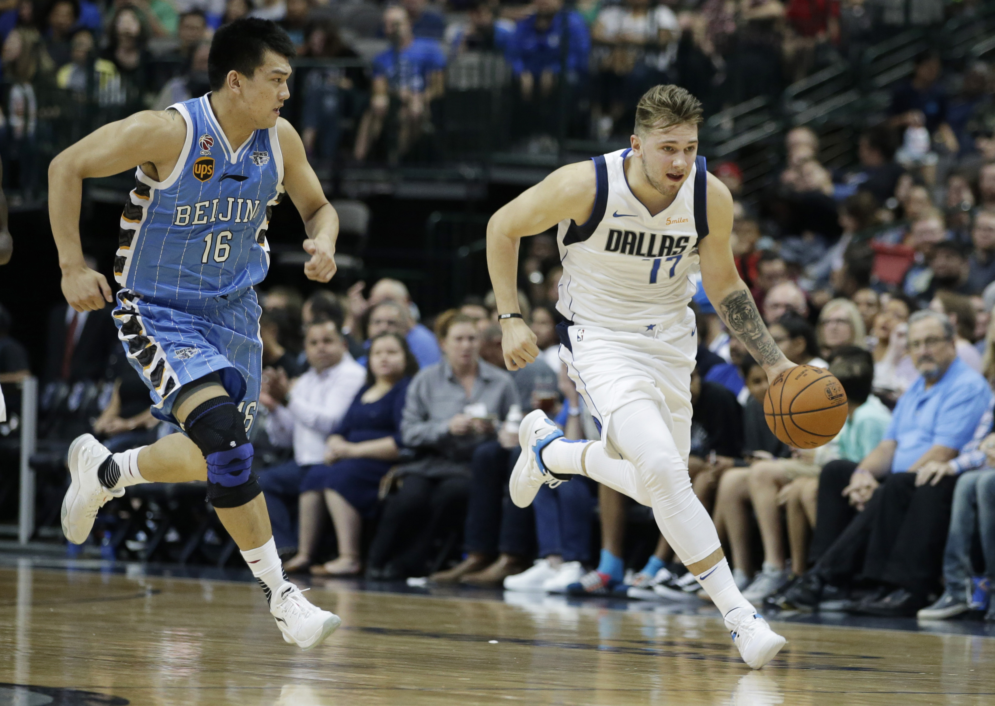 Watch: Luka Doncic dazzles, scores with magicianlike maneuver
