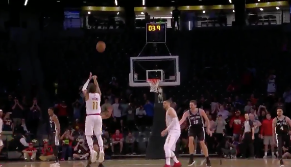 Trae Young drains game-winner from logo (Video)
