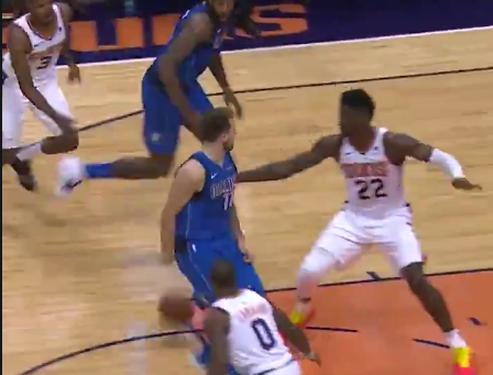 Luka Doncic's second career assist was this behind-the-back dime