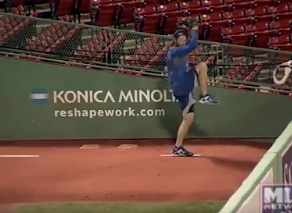 Clayton Kershaw is already throwing pitches at Fenway Park to prepare for World Series