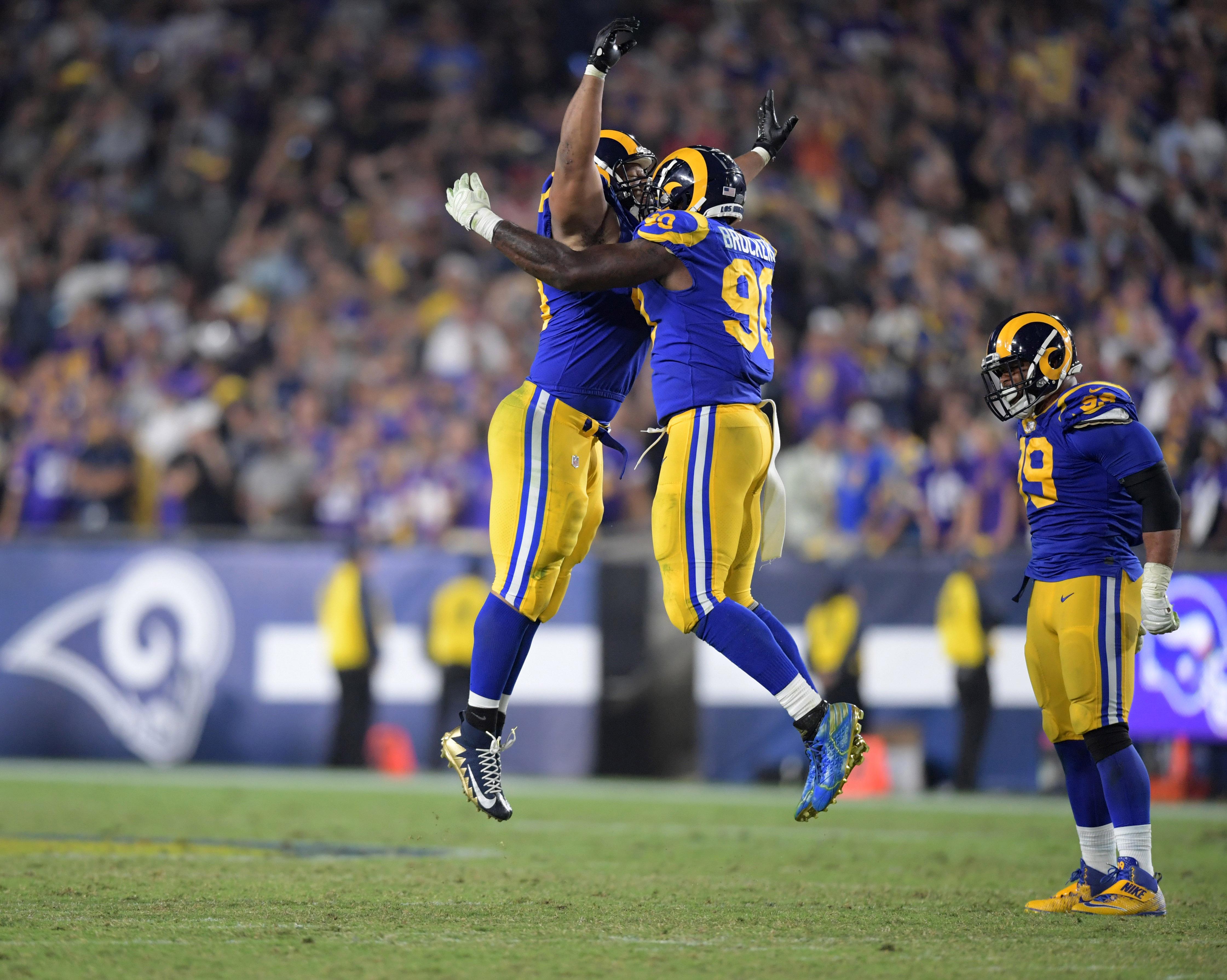 Los Angeles Rams Display Super Bowl Chemistry