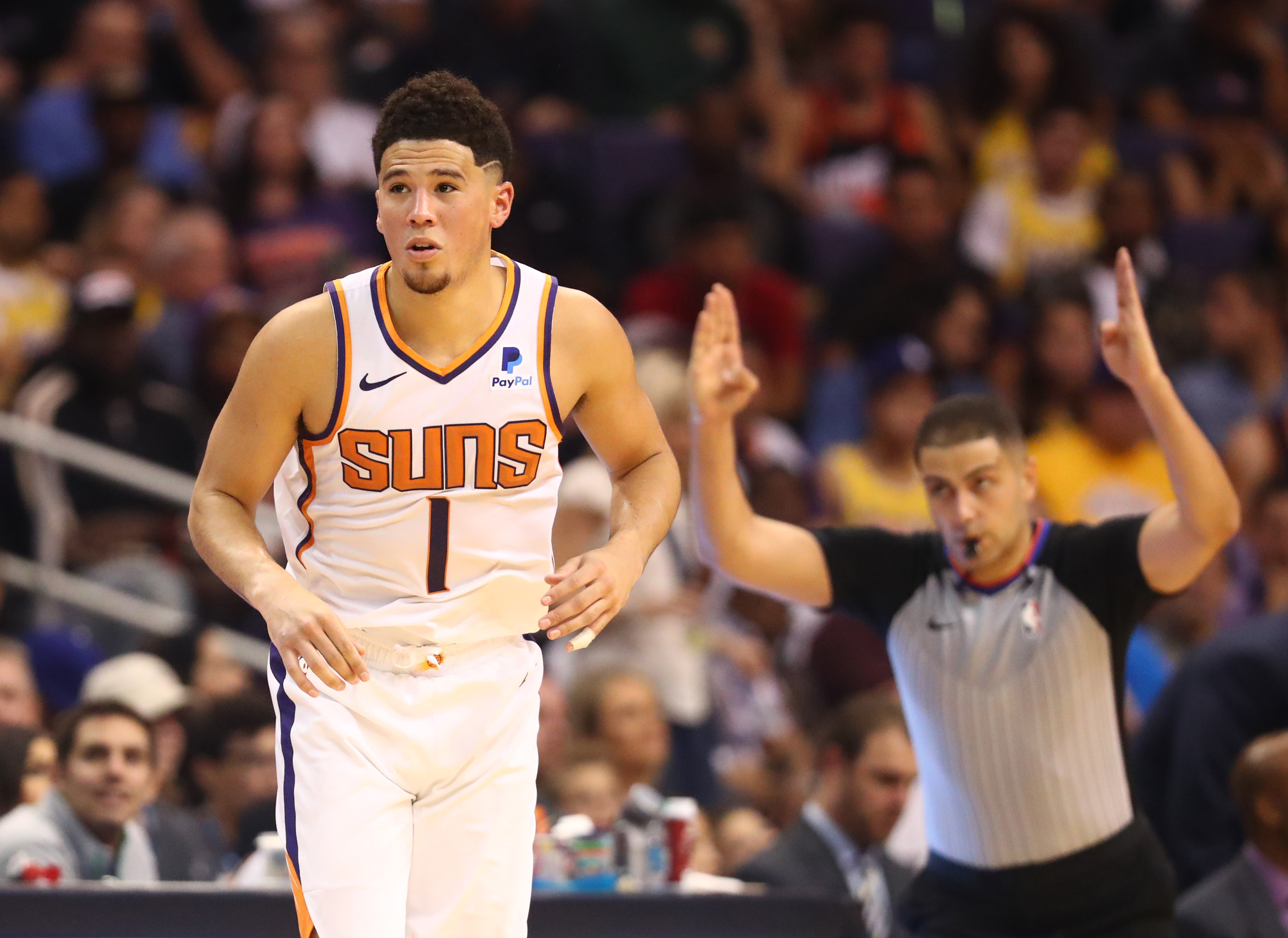 Suns' shooting guard Devin Booker is taking on a larger leadership role