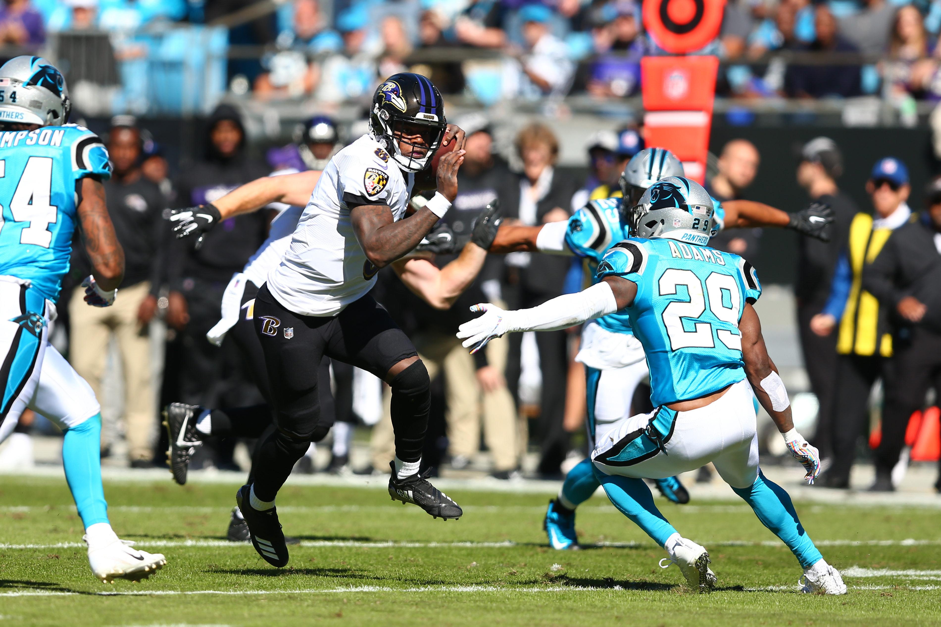 Tyler Huntley understudies Lamar in Ravens 20-3 win over Panthers