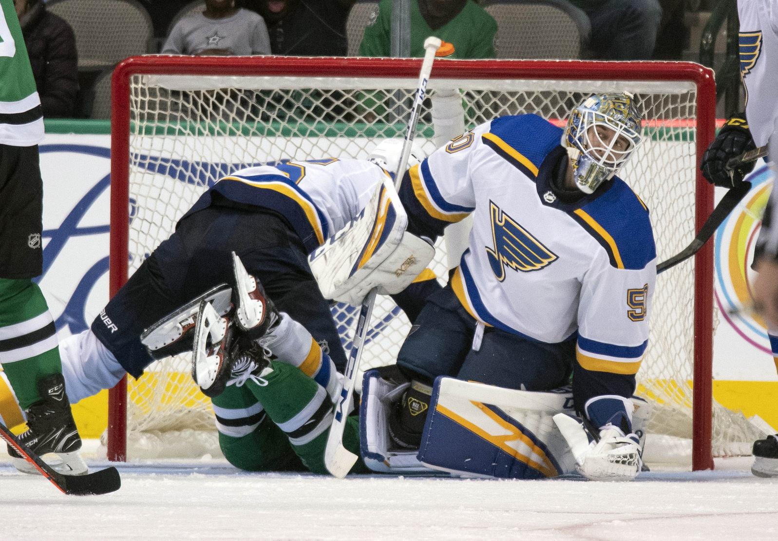 Jordan Binnington is passing up Ville Husso as the Blues' top AHL goalie