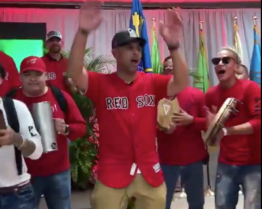 Watch: Alex Cora dances, celebrates World Series win in Puerto Rico