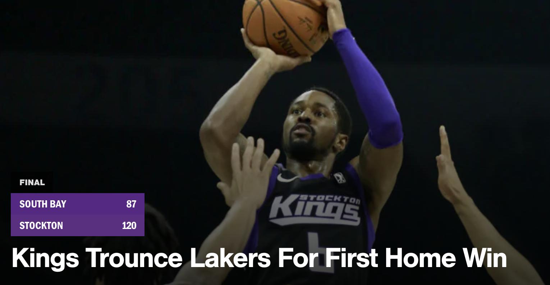 Stockton Kings vs South Bay Lakers Post Game Show