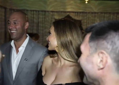 Watch: Derek Jeter, wife Hannah party in Miami to celebrate Marlins new logo