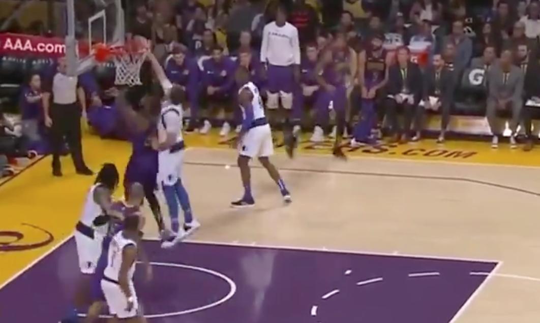 Watch: Luka Doncic blocks LeBron James twice on same play