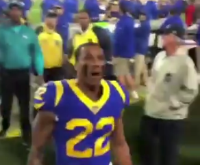 Watch: Marcus Peters confronts, calls out fan in stands