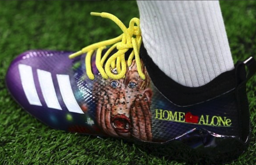 Look: Stefon Diggs shows off awesome 'Home Alone' cleats for Lions game