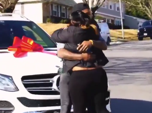 Watch: Stefon Diggs surprises mother with new car for Christmas