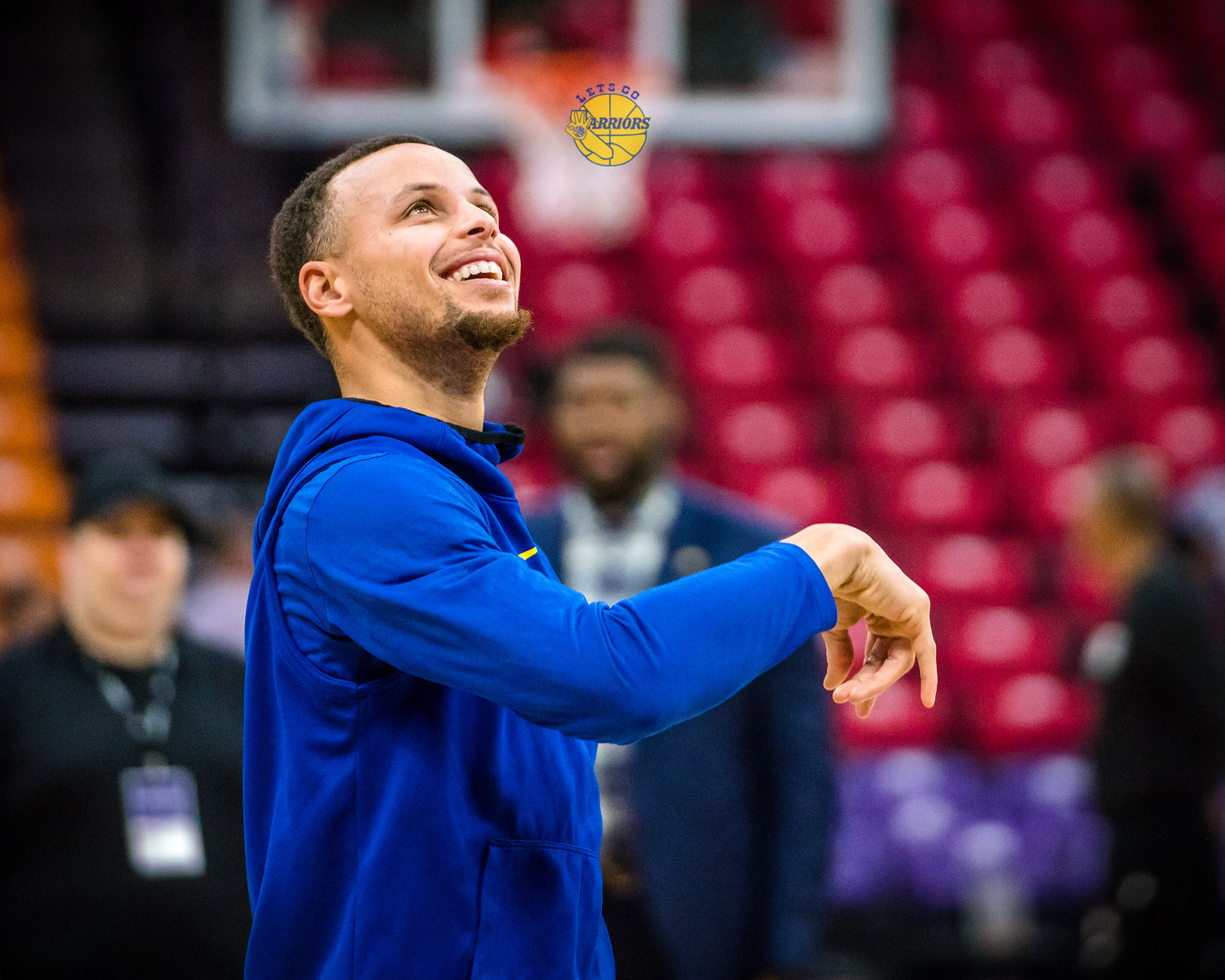 [PHOTO GALLERY] Steph Curry, Klay, Durant pregame in Sacramento before Warriors vs Kings