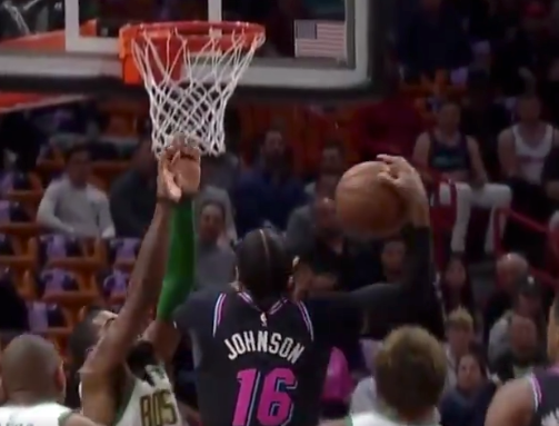 Kyrie Irving gets posterized by James Johnson's massive dunk (Video)