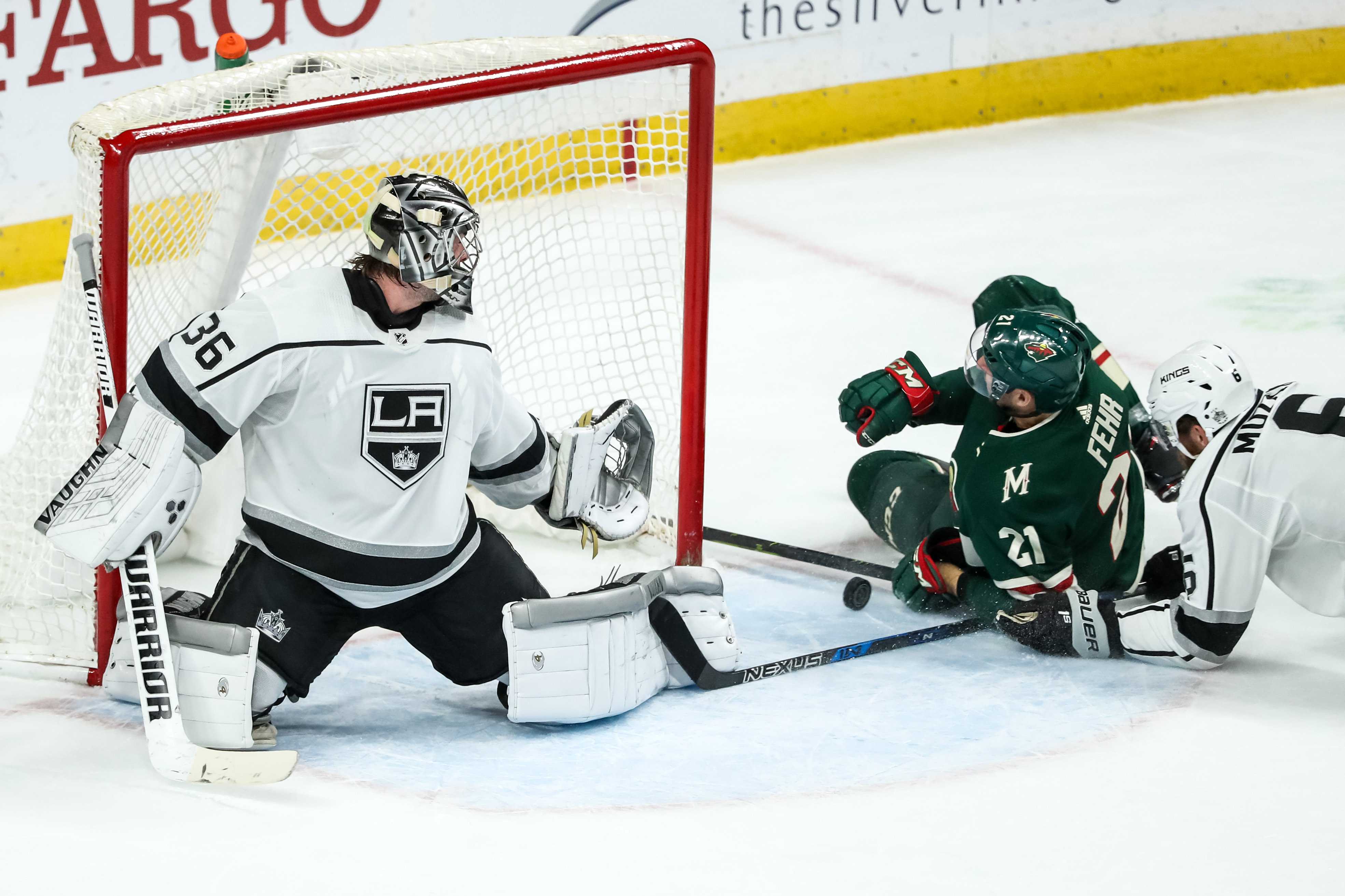 Stalock Saves in Wild's 3-2 Shootout Win Over Los Angeles