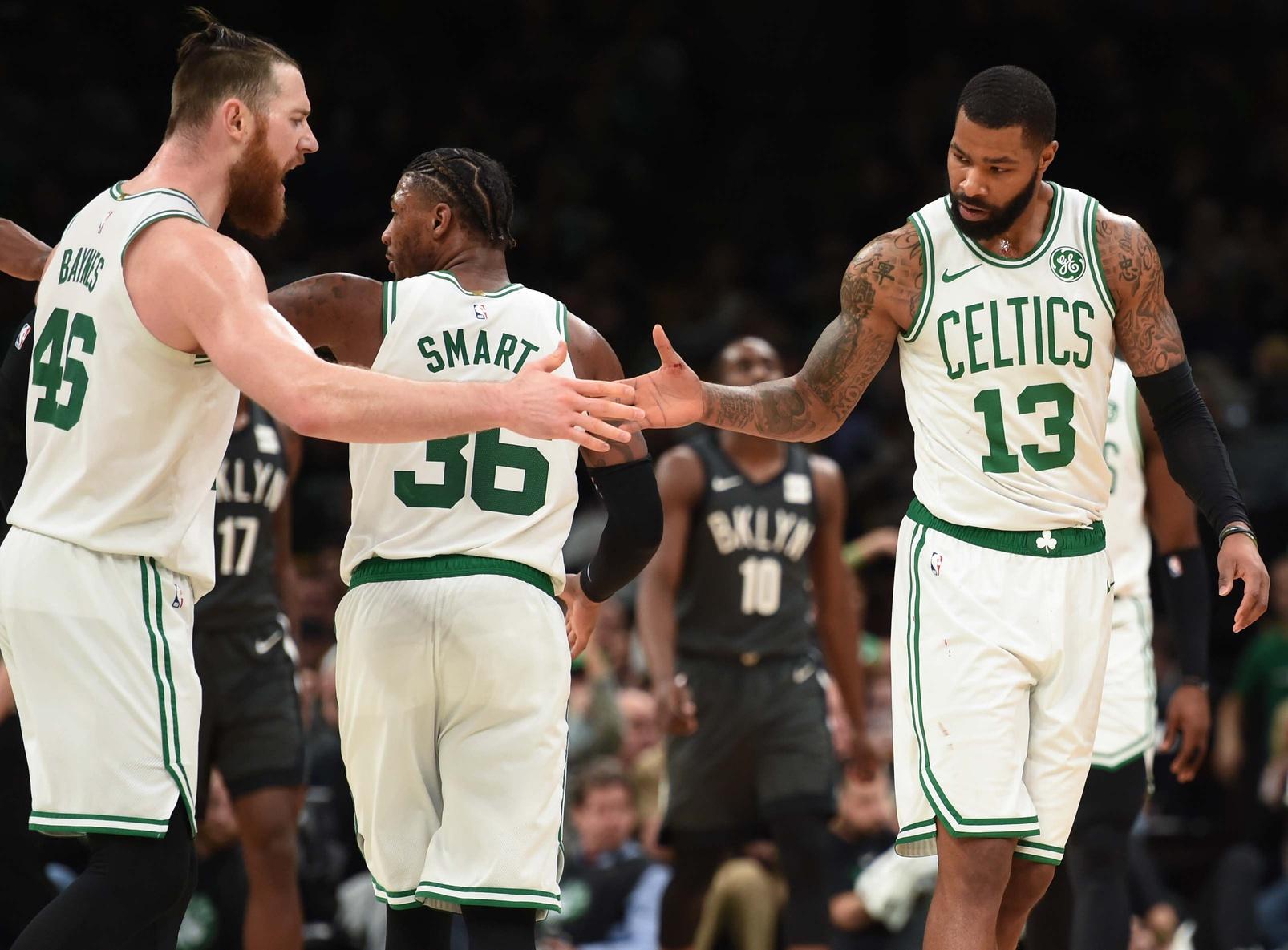 Recap: Bloody Celtics pull away from Nets in weird win