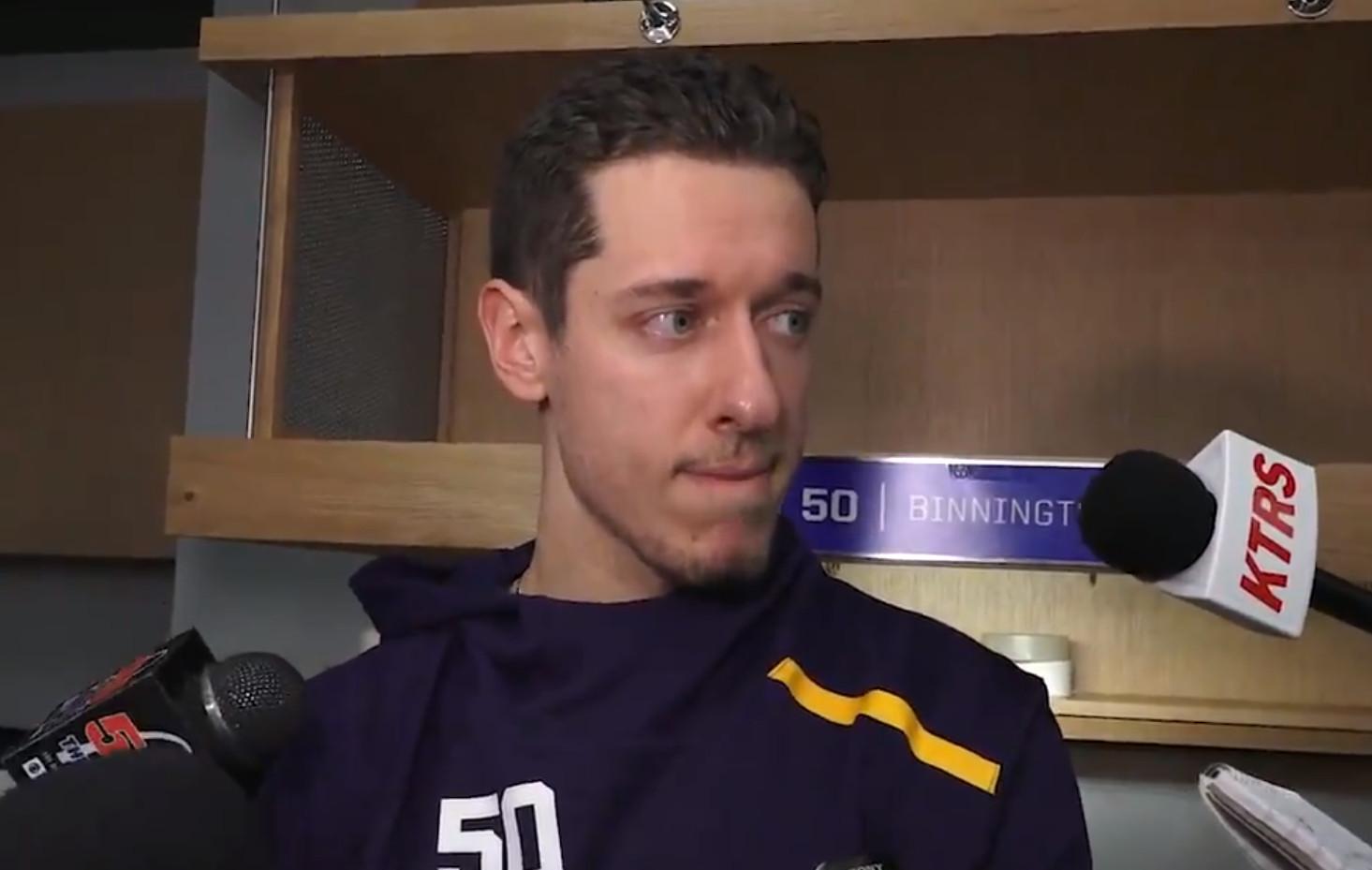 Video: Jordan Binnington has a great response when asked if he's nervous