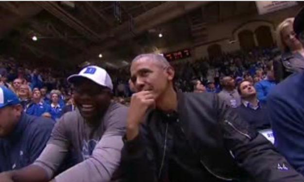 Look: Former President Barack Obama spotted at UNC-Duke game