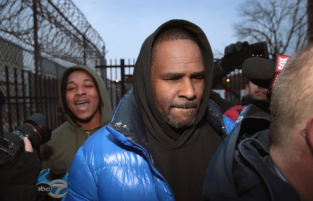 WATCH: R Kelly's supporters chant for his freedom outside jail during his release