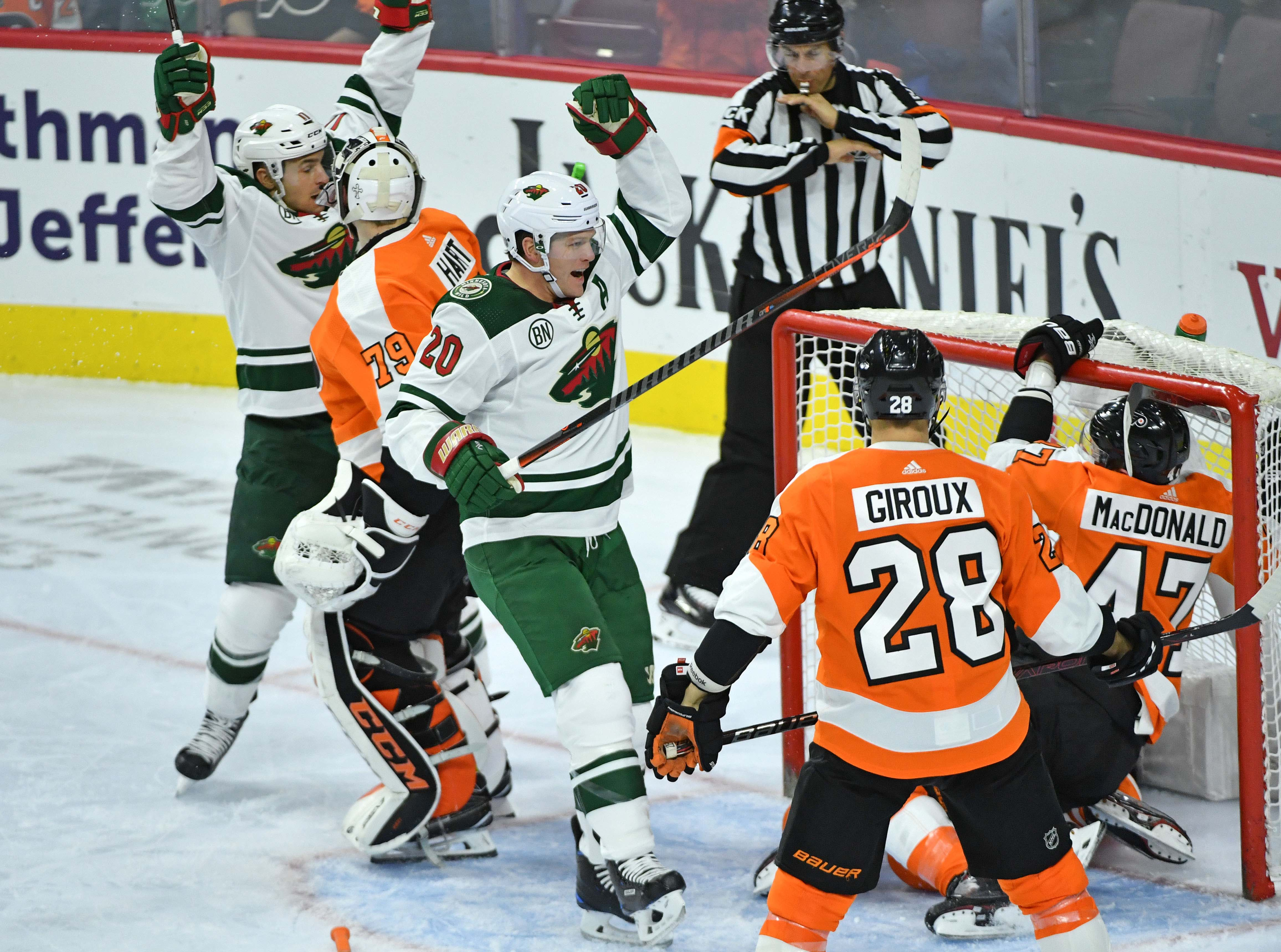 Wild Squander Early Lead in 5-4 Loss to the Flyers