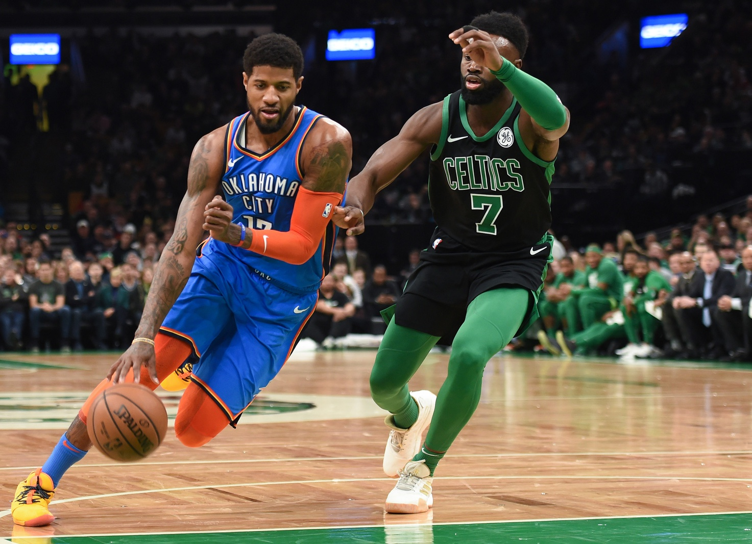 Recap: Celtics weather the Thunder's fourth-quarter storm for a thrilling matinee win