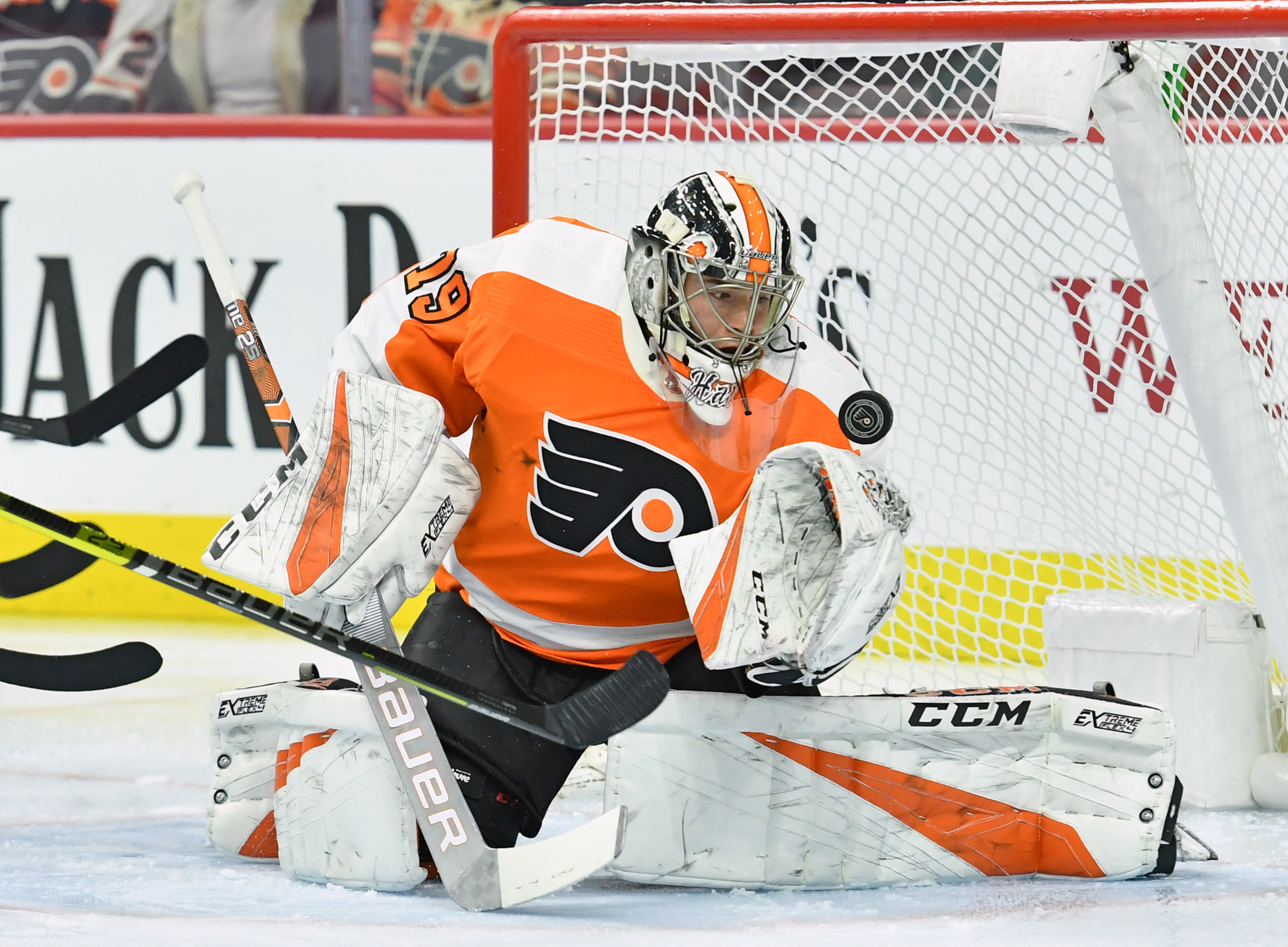 Watch: Flyers' Goalie Carter Hart's Incredible Diving Save