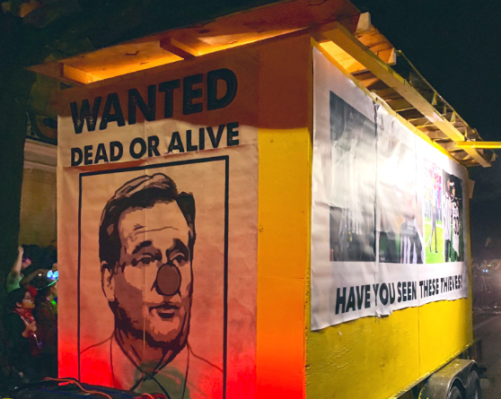 Look: Saints fans take aim at NFL Commissioner Roger Goodell with Mardi Gras float