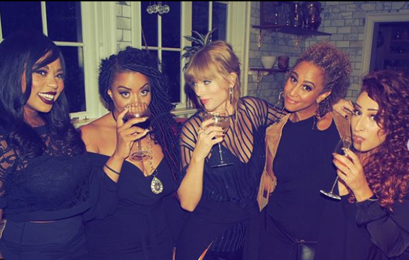 Look: Taylor Swift sips wine with friends, has amazing party