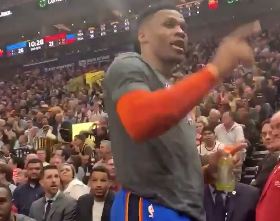 Watch: Russell Westbrook threatens to beat up Jazz fan during game