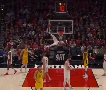 Maurice Harkless somehow blocks shot with his foot (Video)