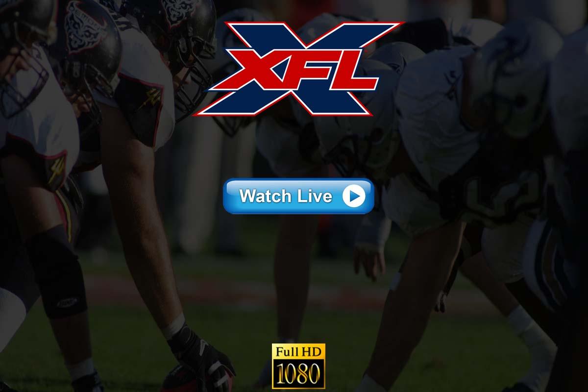 XFL Live Streaming 2020