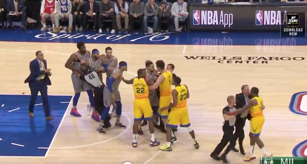 Eric Bledsoe ejected for throwing ball at, shoving Joel Embiid (Video)