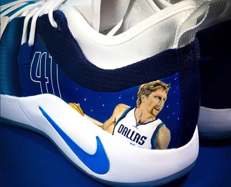 Look: Luka Doncic pays tribute to Dirk Nowitzki with great custom sneakers